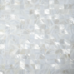 1X1 MOTHER OF PEARL FLAT SHELL - Briddick Tile + Stone
