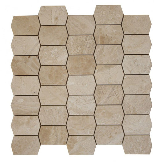 PICKET MOSAIC ROYAL QUEEN BEIGE POLISHED MOSAIC - Briddick Tile + Stone