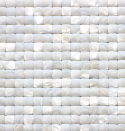 1X1 MOTHER OF PEARL RAISED SHELL - Briddick Tile + Stone