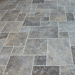 SILVER TRAVERTINE FRENCH PATTERN 6X6, 6X12, 12X12, 12X18 - Briddick Tile + Stone