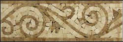 LIGHT EMPERADOR AND BOTTICINO FINE LISTELLO - Briddick Tile + Stone