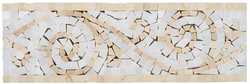 CREMA MARFIL AND VALDI FINE LISTELLO - Briddick Tile + Stone