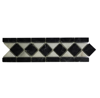 VALDI AND NERO DIAMOND LISTELLO - Briddick Tile + Stone