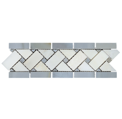 VALDI AND LIGHT AZURE BASKET LISTELLO - Briddick Tile + Stone