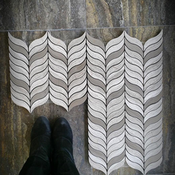 TAUPE AND GREY OAK TULIPS - Briddick Tile + Stone