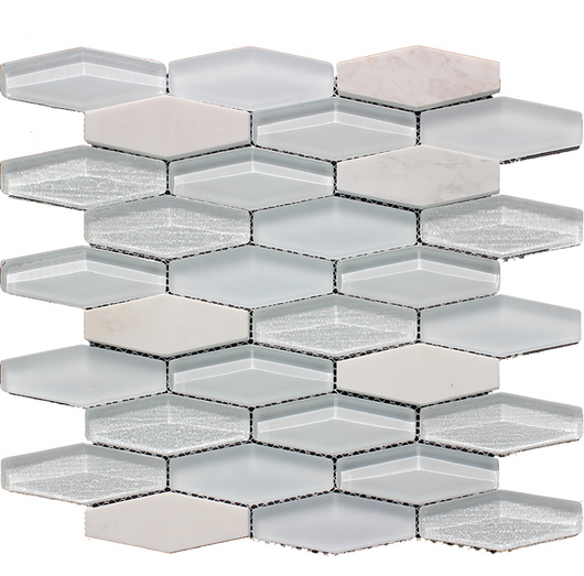 LINN VALDI + MULTI GLASS MOSAIC - Briddick Tile + Stone