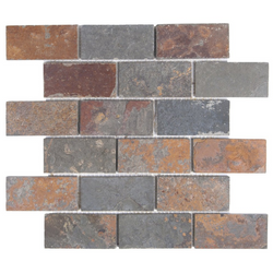 2X4 SLATE MULTI COLOR - Briddick Tile + Stone
