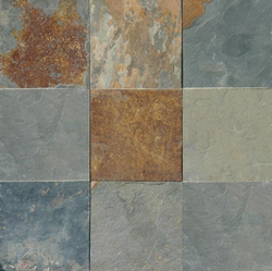 12X12 SLATE MULTI COLOR - Briddick Tile + Stone