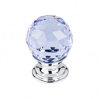 TK113 LIGHT BLUE CRYSTAL KNOB 1 1/8 INCH - Briddick Tile + Stone