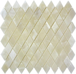 DIAMOND WHITE ONYX MOSAIC POLISHED - Briddick Tile + Stone