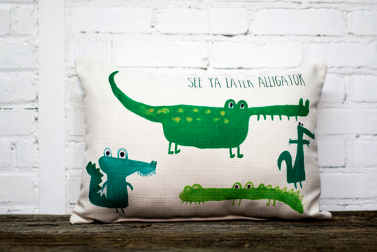 alligator pillow (2 week lead time) - Briddick Tile + Stone