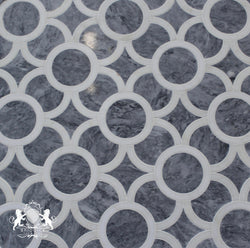 TURKISH GRAY AND THASSOS INFINITY POLISHED - Briddick Tile + Stone