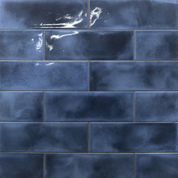 Diesel Camp Blue Glaze 4x12 Ceramic Tile - priced per square foot - THIS PRODUCT HAS AN ESTIMATED LEAD TIME OF 6-8 WEEKS - Briddick Tile + Stone