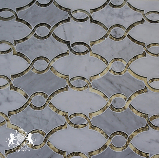 CARRARA AND GLASS ROPE POLISHED - Briddick Tile + Stone