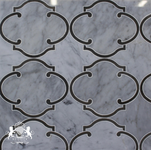 CARRARA VINTAGE ARBESQUE POLISHED - Briddick Tile + Stone