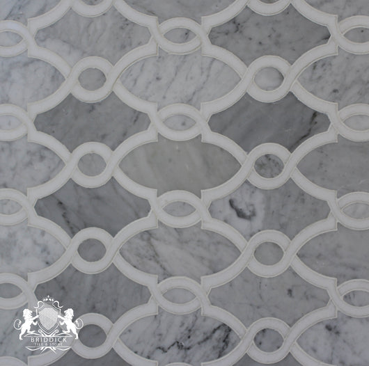 CARRARA AND THASSOS ROPE POLISHED - Briddick Tile + Stone