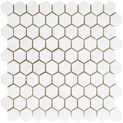 "1 1/4"" Honed Hexagon Alpine Marble Collection - Briddick Tile + Stone"