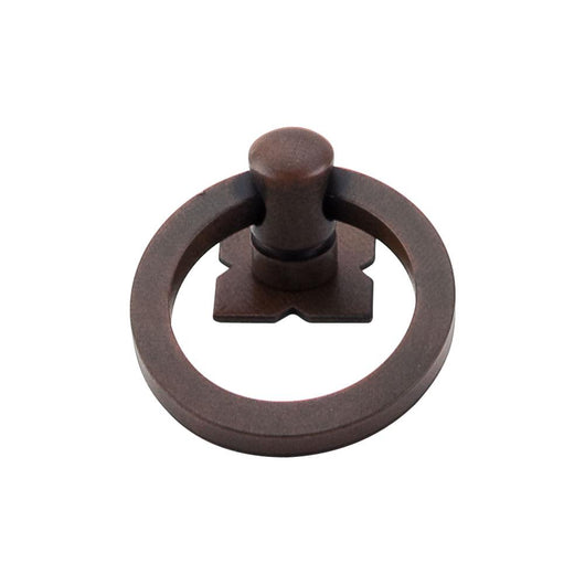 Top Knobs Smooth Ring Pull 1 9/16 Inch w/Backplate - Briddick Tile + Stone