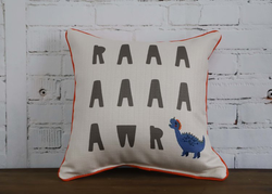 SINGLE DINOSAUR PILLOW - WITH PIPING