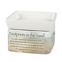 Footprints in the Sand Tart Warmer - Briddick Tile + Stone