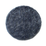 Machine Washable Gray Faux Sheepskin Round Area Rug 42""