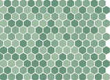 "Green Mix Matte Hex 1"" Porcelain Mosaic - Briddick Tile + Stone"
