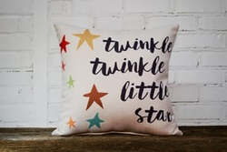 Twinkle Twinkle pillow no piping