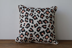 Cheetah Print Throw Pillow - Briddick Tile + Stone