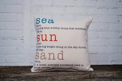 SEA SUN & SAND PILLOW