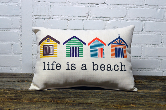 BEACH LIFE PILLOW - NO PIPING - Briddick Tile + Stone