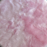 "Machine Washable Pink Faux Sheepskin Round Area Rug 42"" - Briddick Tile + Stone"