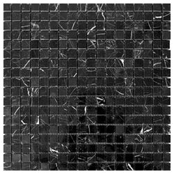 Nero Marquina Polished Mosaic 5/8