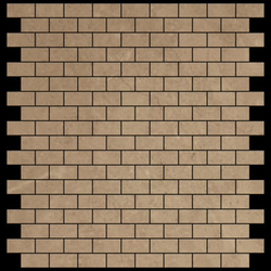 Crema Marfil Mini Brick Polished - Briddick Tile + Stone