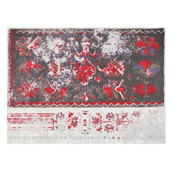 5x8 Area Rug Red/Grey - Ukraine02 by Artajul Rugs - Briddick Tile + Stone