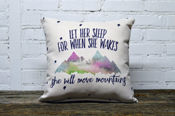 When She Wakes Pillow-no piping