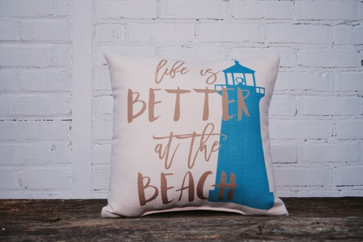 BETTER AT THE BEACH PILLOW - Briddick Tile + Stone