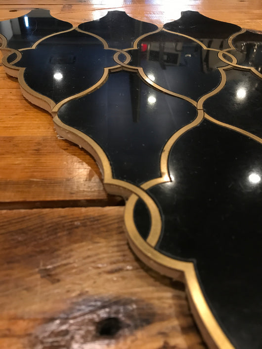 Regio Simplicity Nero Marquina & Brass CALL FOR PRICING - Briddick Tile + Stone