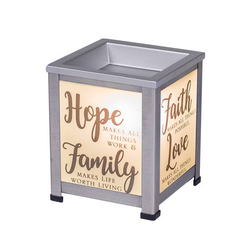 Hope Family Faith Love Grace Warmer - Briddick Tile + Stone