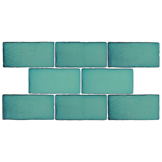 Antic Special Lava Verde 3 in. x 6 in. Ceramic Wall Tile (1 sq. ft. / pack) - sold by the square foot - Briddick Tile + Stone