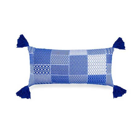 Santorini Lumbar Cushion - Blue - Briddick Tile + Stone