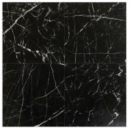 Nero Marquina 12x12 Polished Marble - Briddick Tile + Stone
