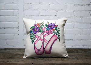 Ballerina Slippers Pillow no piping - Briddick Tile + Stone