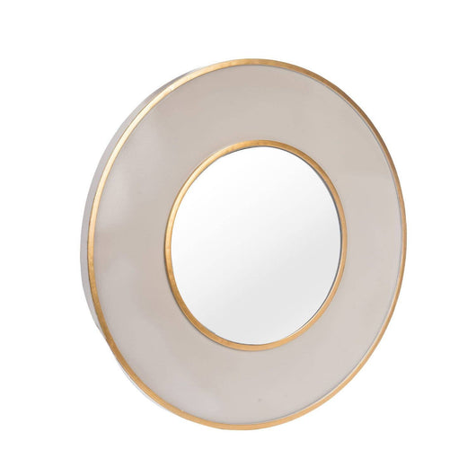 Round Brass Edged Mirror