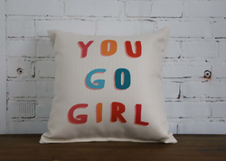 GO GIRL PILLOW - Briddick Tile + Stone