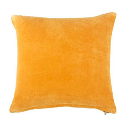 Lush Velvet Cushion, Mustard_18x18 Inches - Briddick Tile + Stone