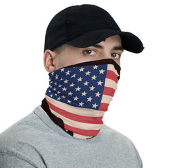 America USA washable Patriotic washable cloth face covering / neck gaiter - Briddick Tile + Stone