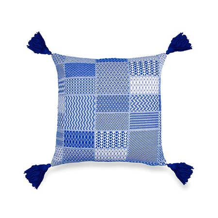 Santorini Accent Cushion ,Blue 20x20 - Briddick Tile + Stone