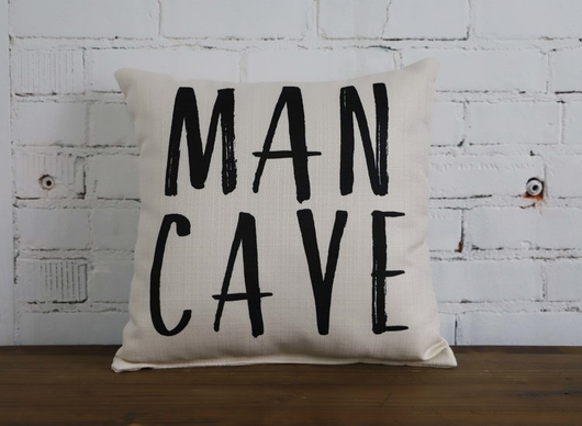 MAN CAVE PILLOW - NO PIPING - Briddick Tile + Stone
