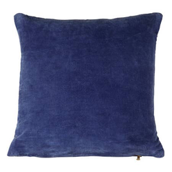 Lush Velvet cushion, Indigo Blue- 18 x 18 Inches
