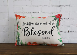 Proverbs Pillow - Blessed - Briddick Tile + Stone